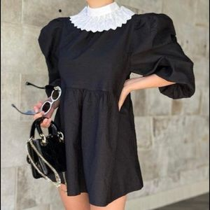 Stores Structured Puff Long Sleeve mini dress